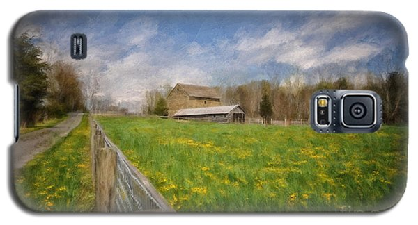 Stone Barn On A Spring Morning Galaxy S5 Case by Lois Bryan