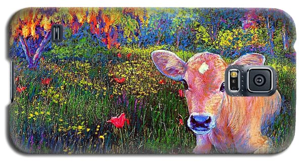 Summer Galaxy S5 Cases - Such a Contented Cow Galaxy S5 Case by Jane Small