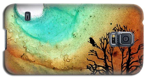 Summer Moon - Landscape Art By Sharon Cummings Galaxy S5 Case by Sharon Cummings
