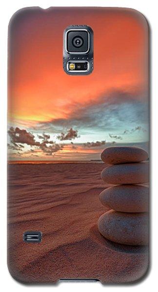 Seascape Galaxy S5 Cases - Sunrise Zen Galaxy S5 Case by Sebastian Musial