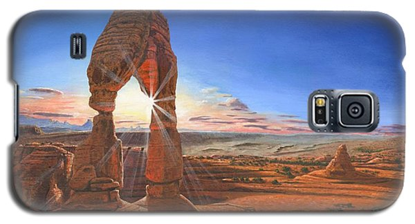 Sunset At Delicate Arch Utah Galaxy S5 Case by Richard Harpum