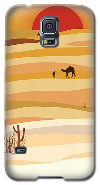 Sunset In The Desert Galaxy S5 Case by Neelanjana  Bandyopadhyay