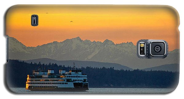 Sunset Over Olympic Mountains Galaxy S5 Case by Dan Mihai