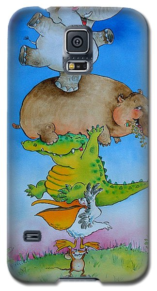 Super Mouse Pen & Ink And Wc On Paper Galaxy S5 Case by Maylee Christie