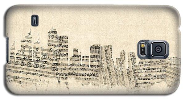 Sydney Australia Skyline Sheet Music Cityscape Galaxy S5 Case by Michael Tompsett