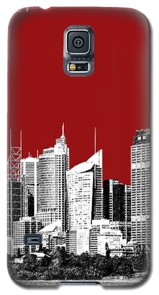 Sydney Skyline 1 - Dark Red Galaxy S5 Case by DB Artist