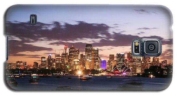 Sydney Skyline At Dusk Australia Galaxy S5 Case by Matteo Colombo