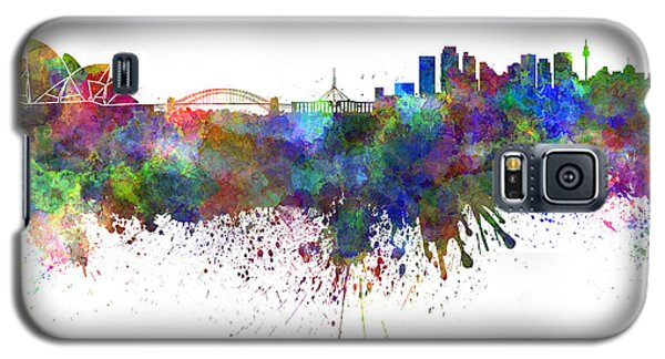 Sydney Skyline In Watercolor On White Background Galaxy S5 Case by Pablo Romero