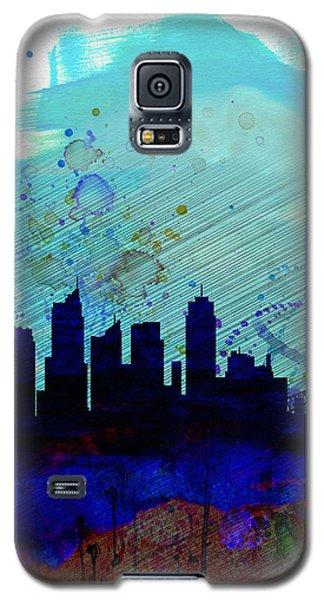 Sydney Watercolor Skyline Galaxy S5 Case by Naxart Studio