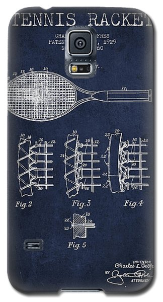 Tennnis Racket Patent Drawing From 1929 Galaxy S5 Case by Aged Pixel
