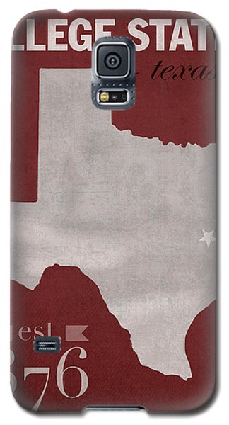 Texas A And M University Aggies College Station College Town State Map Poster Series No 106 Galaxy S5 Case by Design Turnpike