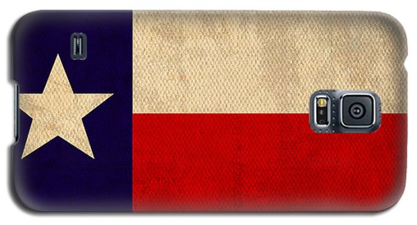 Texas State Flag Lone Star State Art On Worn Canvas Galaxy S5 Case by Design Turnpike