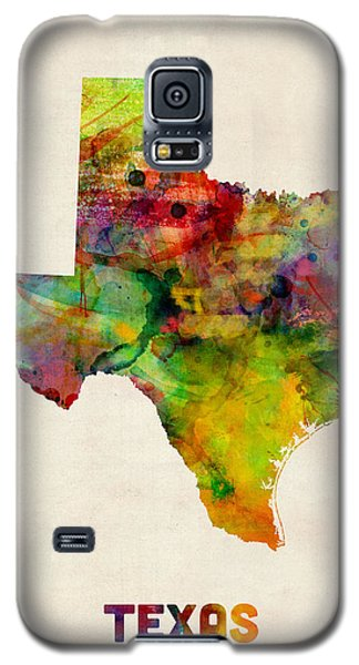 Texas Watercolor Map Galaxy S5 Case by Michael Tompsett