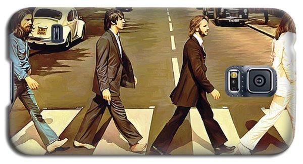 The Beatles Abbey Road Artwork Galaxy S5 Case by Sheraz A