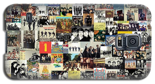 Music Galaxy S5 Cases - The Beatles Collage Galaxy S5 Case by Taylan Soyturk