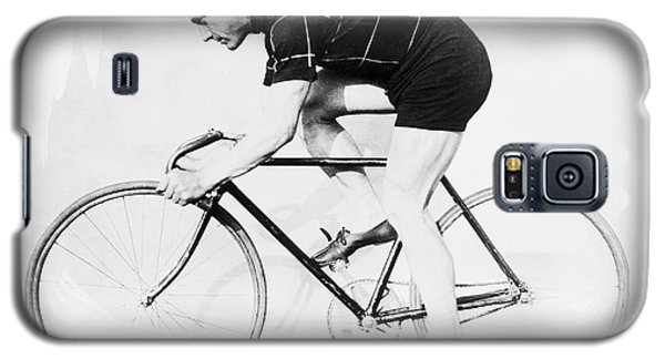 The Bicyclist - 1914 Galaxy S5 Case by Daniel Hagerman