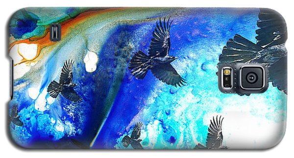 The Calling - Raven Crow Art By Sharon Cummings Galaxy S5 Case by Sharon Cummings