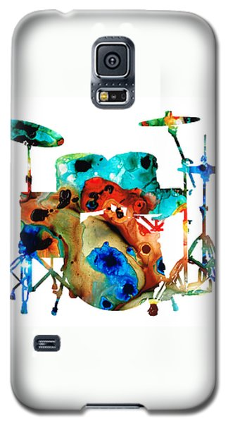 Music Galaxy S5 Cases - The Drums - Music Art By Sharon Cummings Galaxy S5 Case by Sharon Cummings