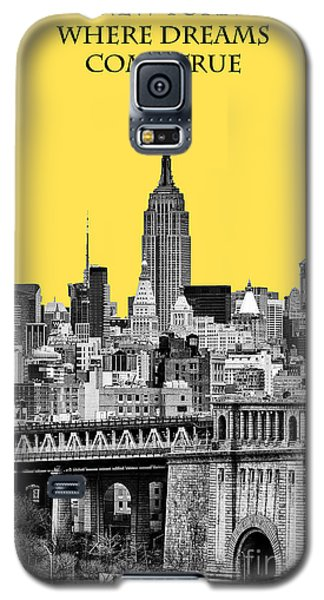 Yellow Galaxy S5 Cases - The Empire State Building pantone yellow Galaxy S5 Case by John Farnan