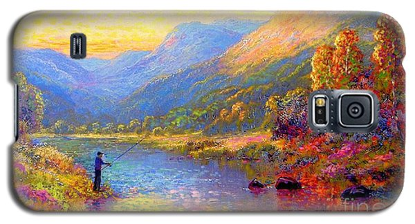 Fishing And Dreaming Galaxy S5 Case by Jane Small