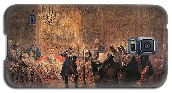 The Flute Concert Galaxy S5 Case by Adolph Friedrich Erdmann von Menzel