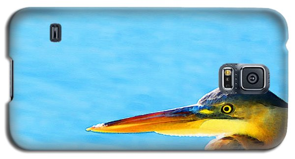 The Great One - Blue Heron By Sharon Cummings Galaxy S5 Case by Sharon Cummings
