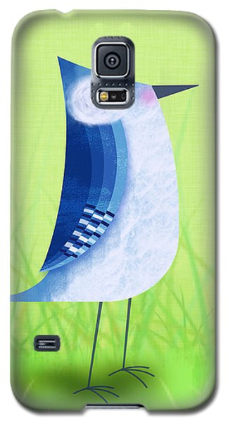 Mixed Media Galaxy S5 Cases - The Letter Blue J Galaxy S5 Case by Valerie   Drake Lesiak