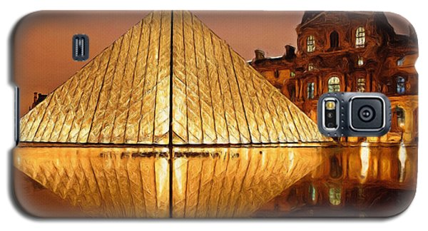 The Louvre By Night Galaxy S5 Case by Ayse Deniz