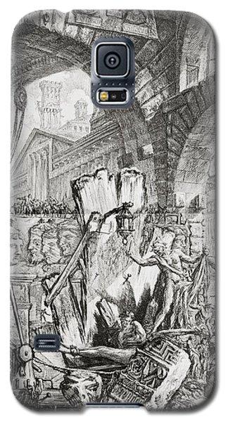 The Man On The Rack Plate II From Carceri D'invenzione Galaxy S5 Case by Giovanni Battista Piranesi