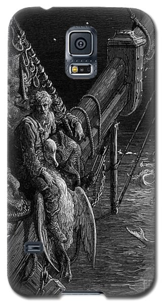The Mariner Gazes On The Serpents In The Ocean Galaxy S5 Case by Gustave Dore