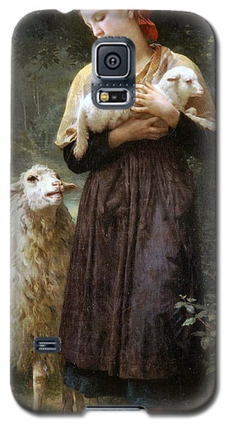 The Newborn Lamb Galaxy S5 Case by William Bouguereau