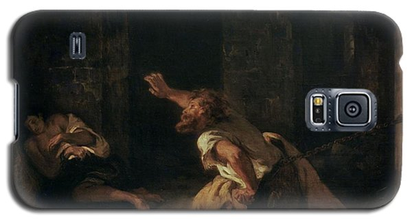 The Prisoner Of Chillon Galaxy S5 Case by Ferdinand Victor Eugene Delacroix