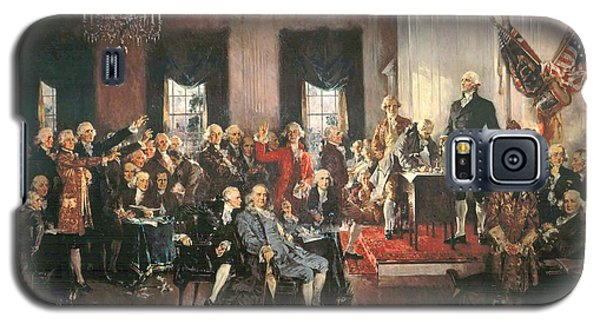 The Signing Of The Constitution Of The United States In 1787 Galaxy S5 Case by Howard Chandler Christy