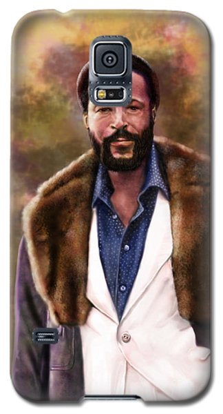 The Silky Silky Soul Singer - Marvin Gaye  Galaxy S5 Case by Reggie Duffie
