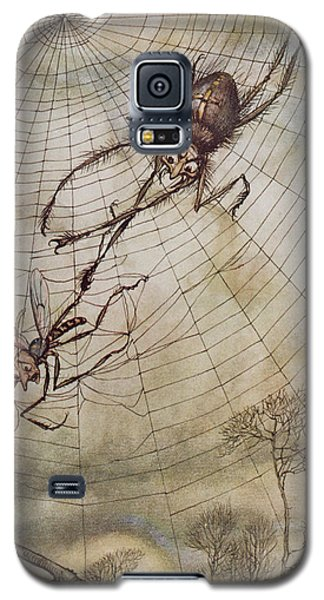 The Spider And The Fly Galaxy S5 Case by Arthur Rackham