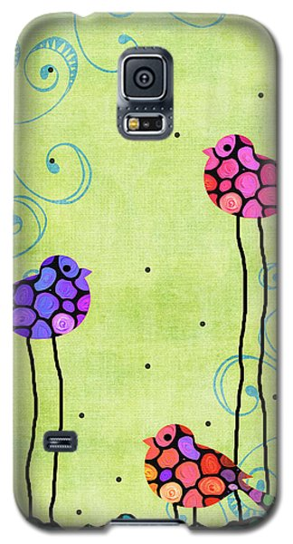 Three Birds - Spring Art By Sharon Cummings Galaxy S5 Case by Sharon Cummings