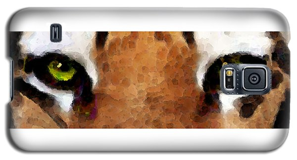 Tiger Art - Hungry Eyes Galaxy S5 Case by Sharon Cummings