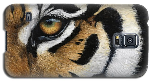 Tiger Eye Galaxy S5 Case by Lucie Bilodeau