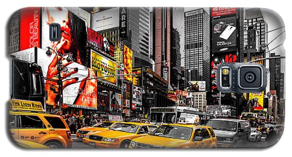 Times Square Taxis Galaxy S5 Case by Az Jackson