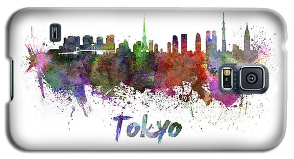 Tokyo Skyline In Watercolor Galaxy S5 Case by Pablo Romero