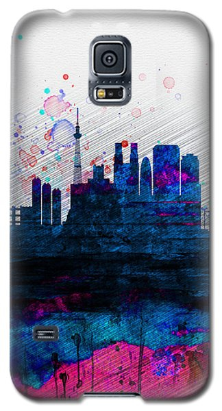 Tokyo Watercolor Skyline 2 Galaxy S5 Case by Naxart Studio