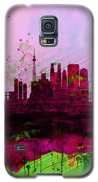 Tokyo Watercolor Skyline Galaxy S5 Case by Naxart Studio