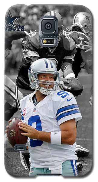Tony Romo Cowboys Galaxy S5 Case by Joe Hamilton