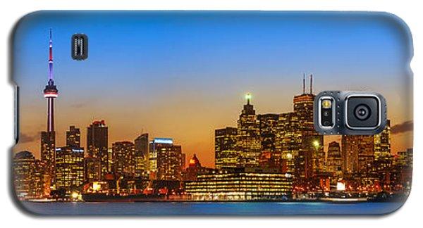 Light Galaxy S5 Cases - Toronto Skyline Panorama Galaxy S5 Case by Sebastian Musial
