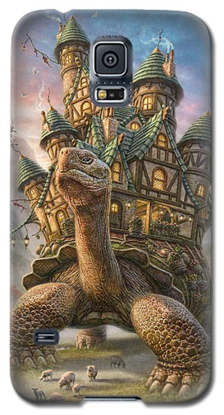 Blue Galaxy S5 Cases - Tortoise House Galaxy S5 Case by Phil Jaeger