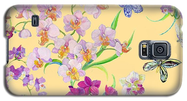 Tossed Orchids Galaxy S5 Case by Kimberly McSparran