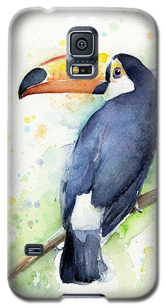 Toucan Watercolor Galaxy S5 Case by Olga Shvartsur
