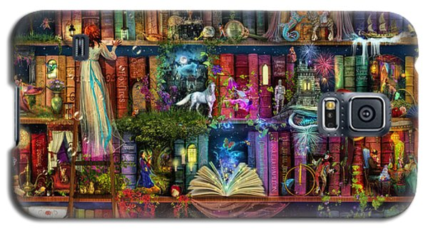 Fairytale Treasure Hunt Book Shelf Galaxy S5 Case by Aimee Stewart