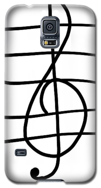 Treble Clef Galaxy S5 Case by Jada Johnson