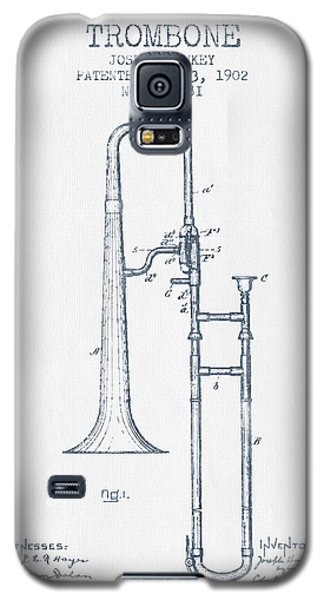 Trombone Patent From 1902 - Blue Ink Galaxy S5 Case by Aged Pixel